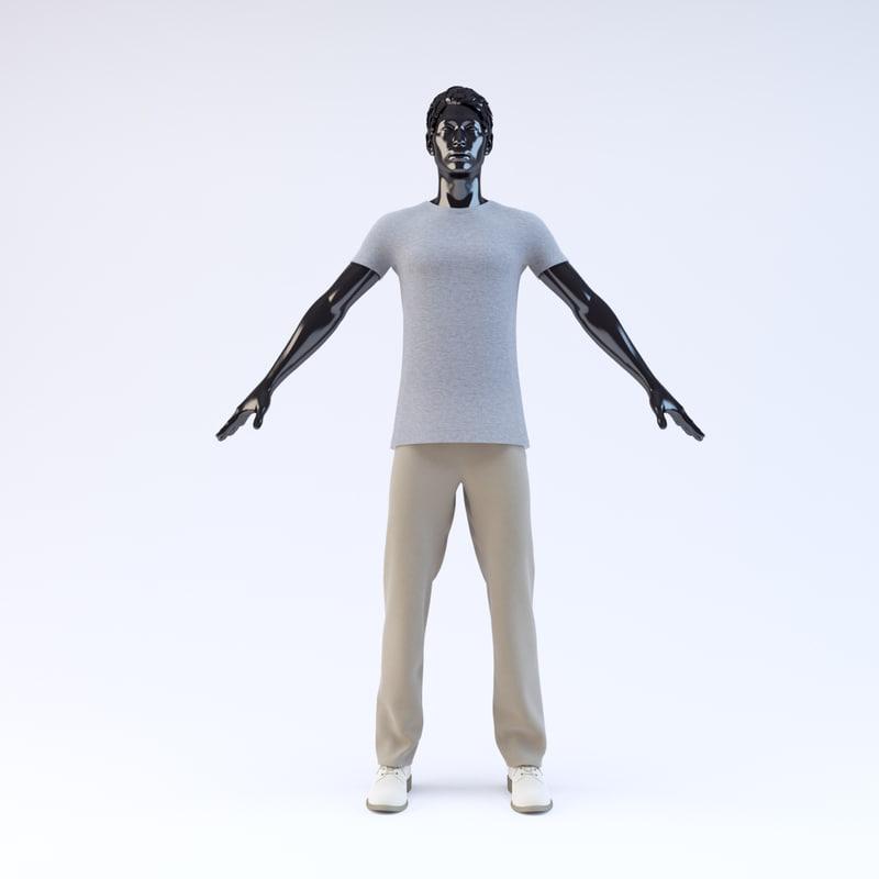 3d showroom mannequin male 06