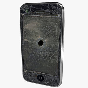 apple phone s destroyed 3d 3ds