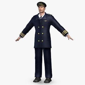 3d model airliner pilot