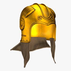 3d model scythian helmet
