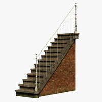 3d french staircase model