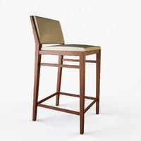 holly designer bar stool 3d model