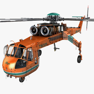 max sikorsky s-64 skycrane helicopter