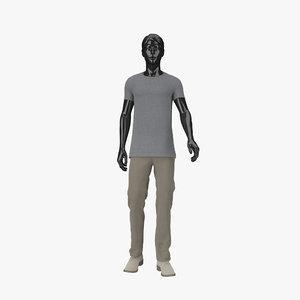 3d model showroom mannequin male 08