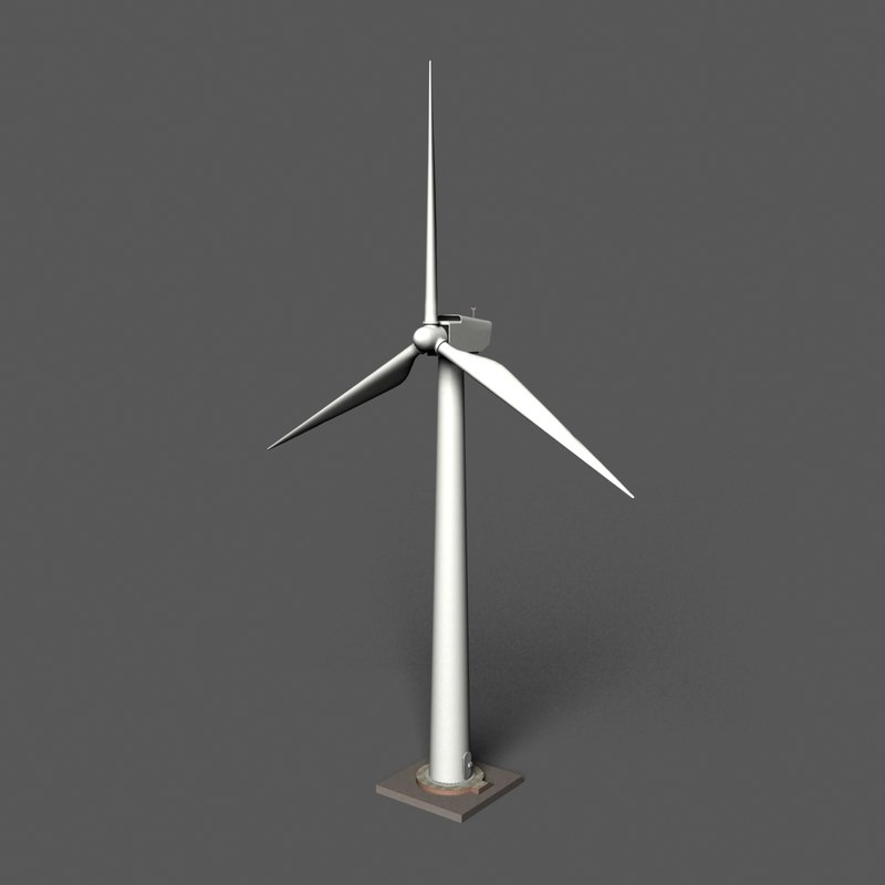 wind turbine 3d 3ds