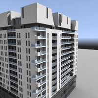3d model residential building modern