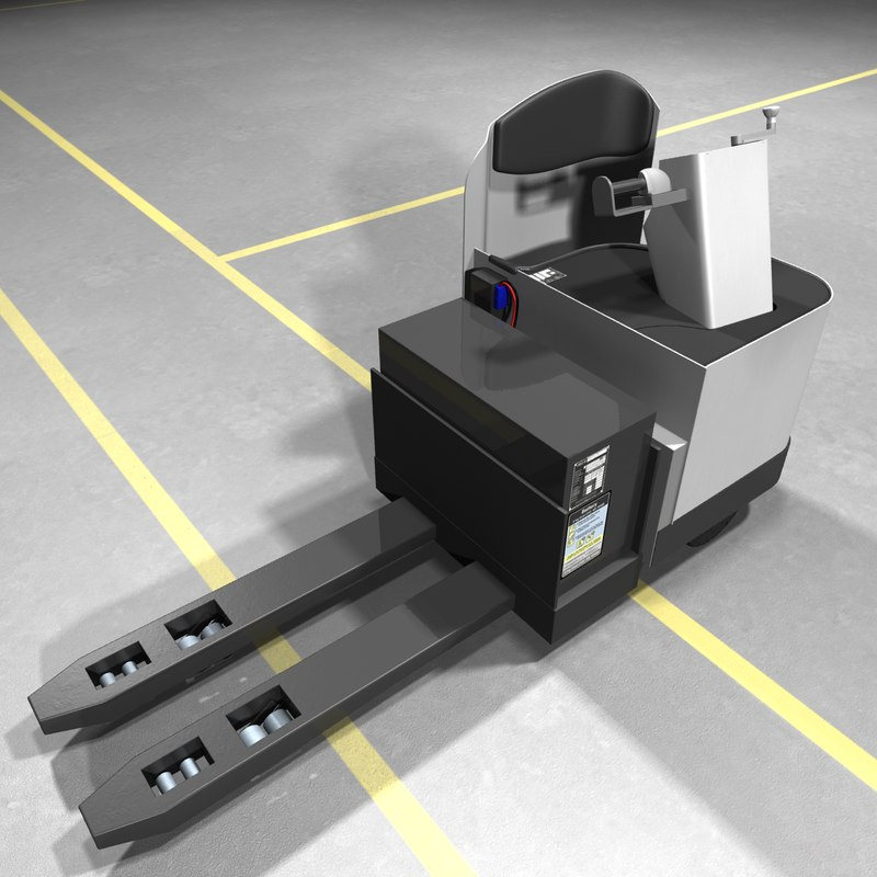 electric stand-up rider pallet truck 3d x