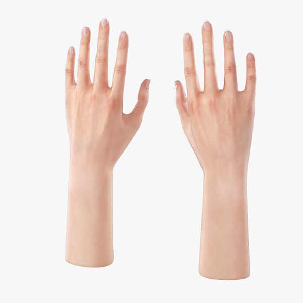 3d rigged female hand realistic