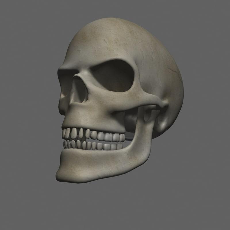 3d evil skull