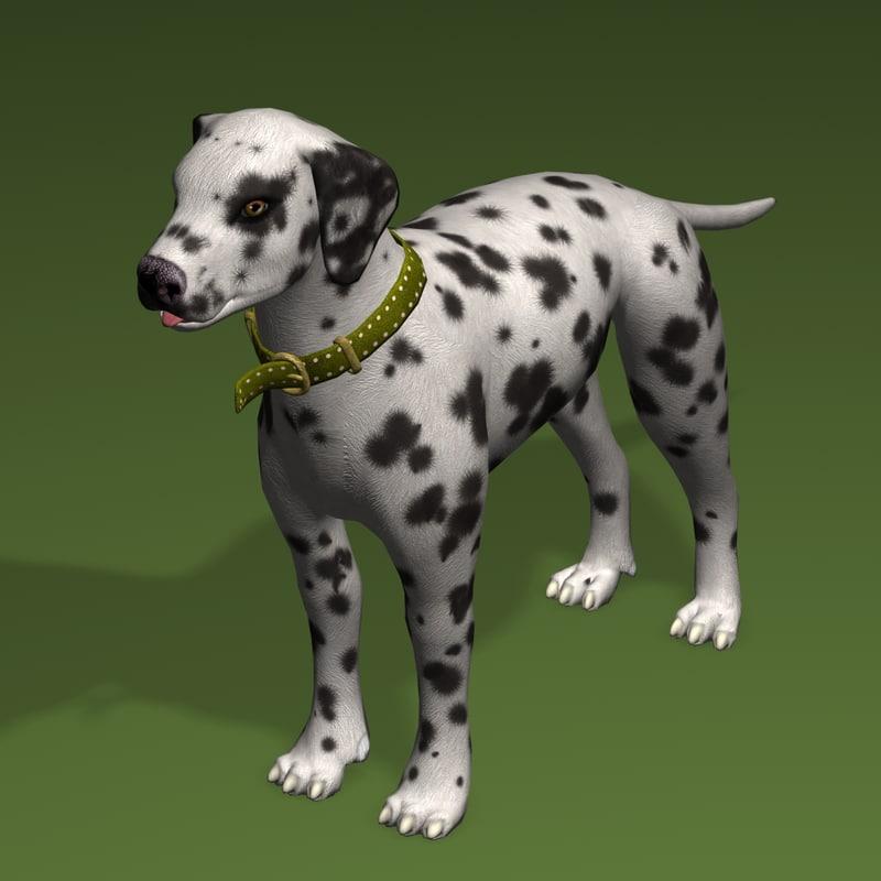 3ds dog dalmatian