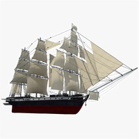 3d old sailing ship model