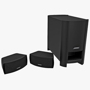 3d model home entertainment bose graphite