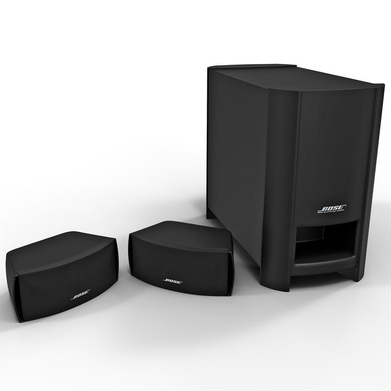 3d model home entertainment bose graphite