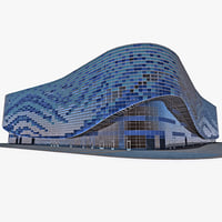3d model iceberg skating palace sochi