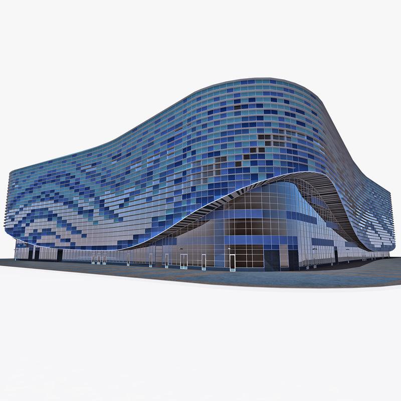 3d model iceberg skating palace sochi