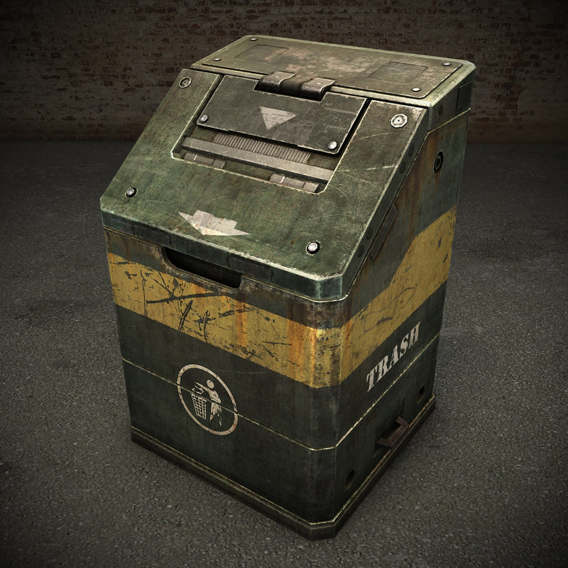 trash techno sci-fi 3d model