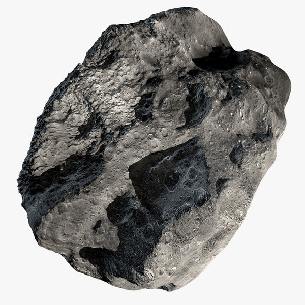 c4d modeled asteroid
