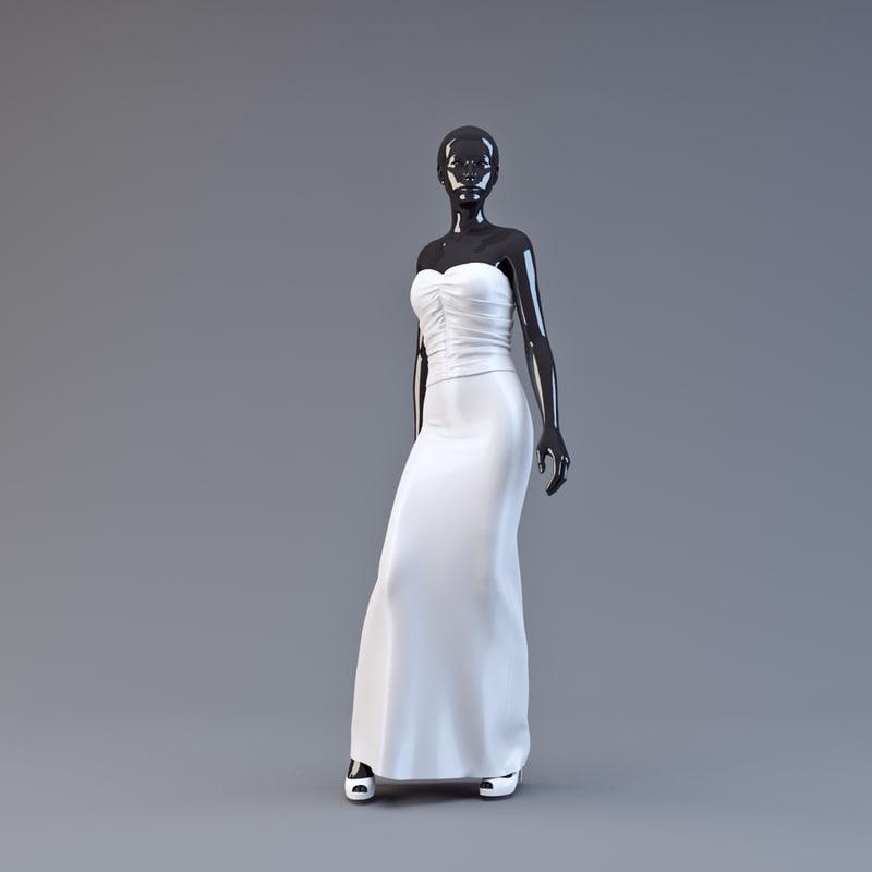 3d showroom mannequin 027 model