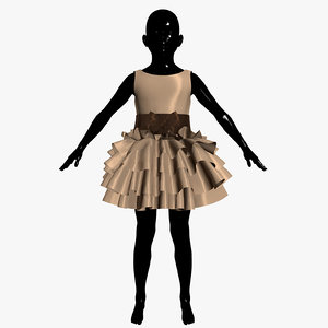 3d model dress child