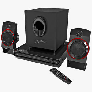 home theater supersonic sc-35ht 3d max