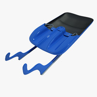 luge sled 3d max