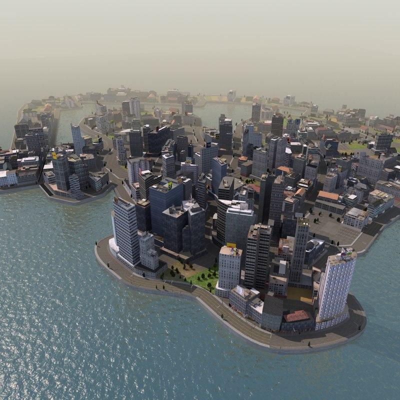 3d model race city building games