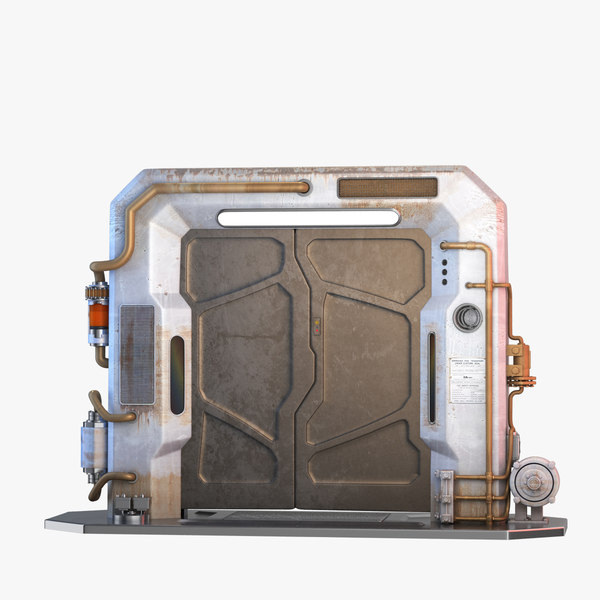 3d model sci-fi door