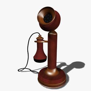 telephone vintage wood max