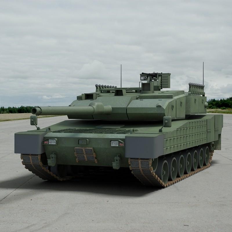 3d modern battle tank altay model