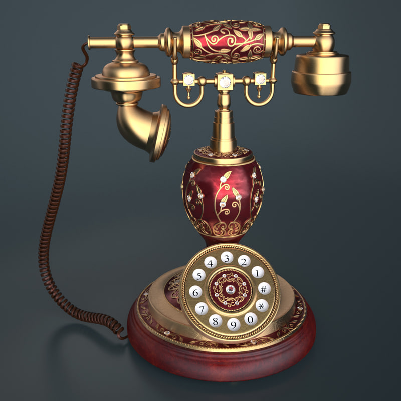 3d model photoreal antique phone