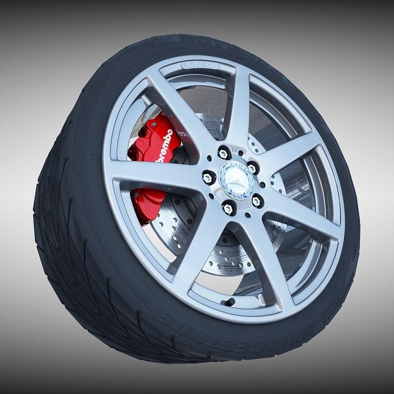 amg wheel tire 3ds