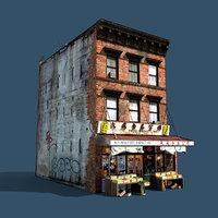 chinatown market building 3d model