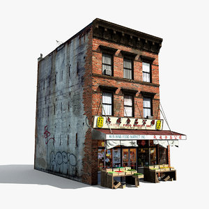 chinatown market building 3d model