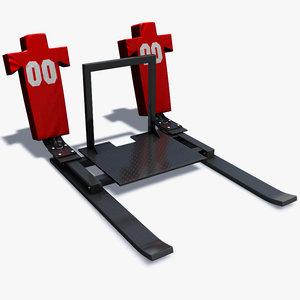 3d football training sled model