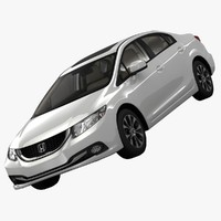 honda civic executive sedan 3d 3ds