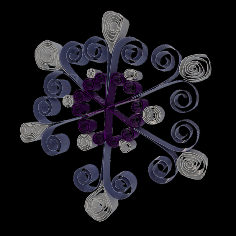 quilling snowflakes grid 02 3d model