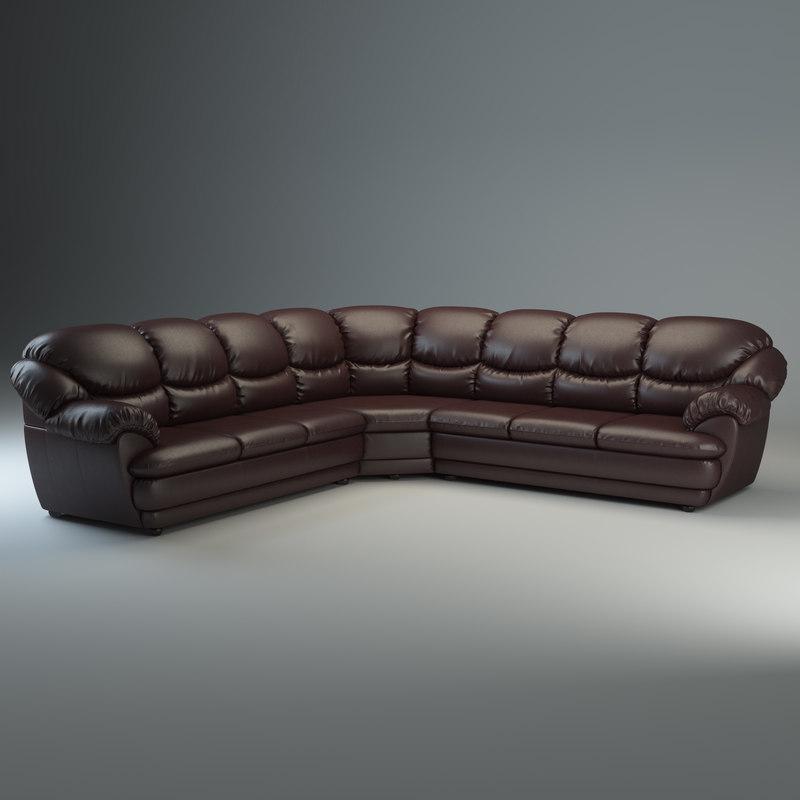 long corner sofa osvald 3d model