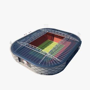 soccer arena 3d max