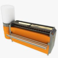 3d model carpet dust removal machine