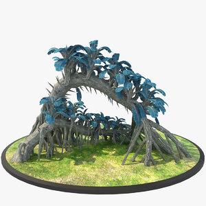 alien tree 3d obj