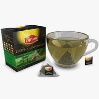 lipton green gunpowder 3d obj