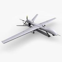 uav drone reaper mq-9 3d model