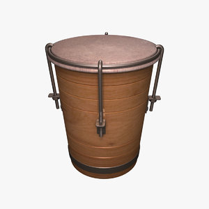 3d small drum model