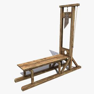 3d guillotine modeled