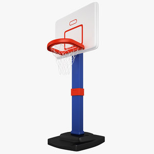 3d basketball hoop b