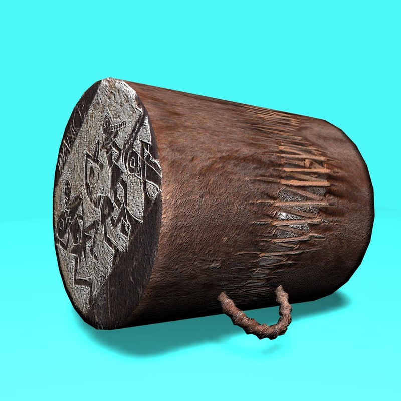 max handmade african drum