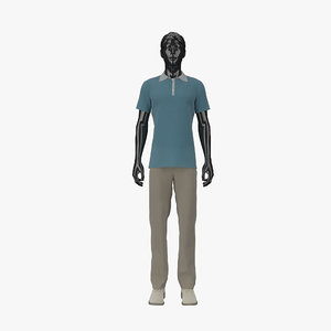 showroom mannequin male 012 3d max