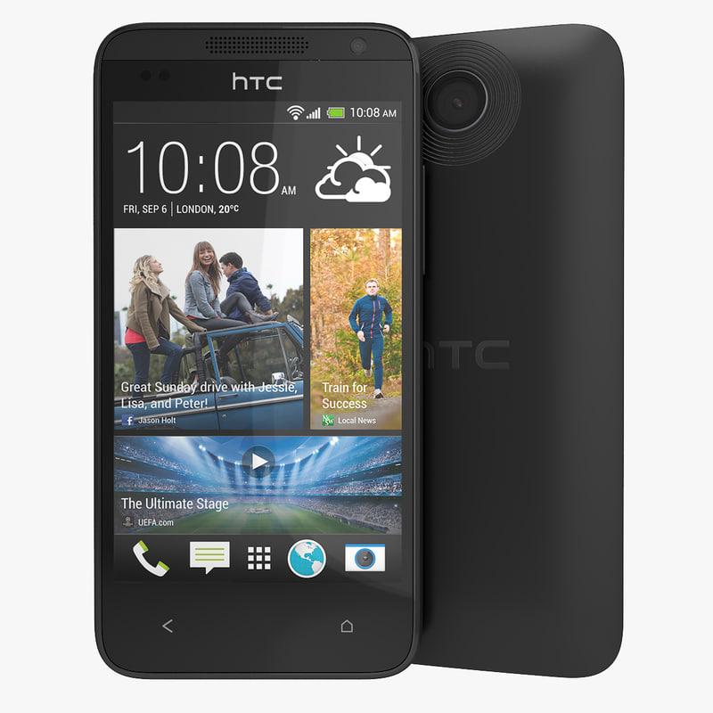 3d model htc desire 300 smartphone