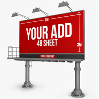 Billboard 48 Sheet double pillar