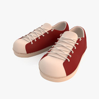 3d model of school shoes